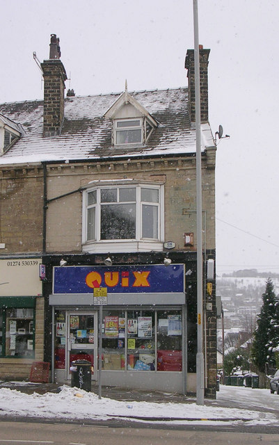 Quix - Bradford Road - in a snowstorm!