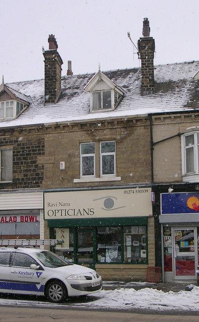 Ravi Naru Opticians - Bradford Road - in a snowstorm!