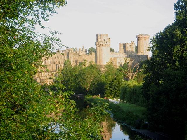 Warwick Castle from Banbury Road Bridge