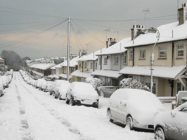 Dudley Road in thick snow