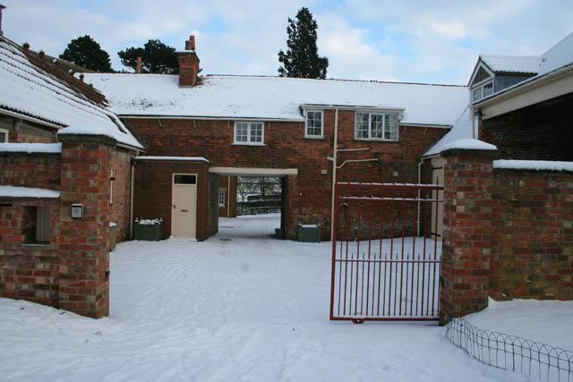 Old coach entrance to Eaton Grange