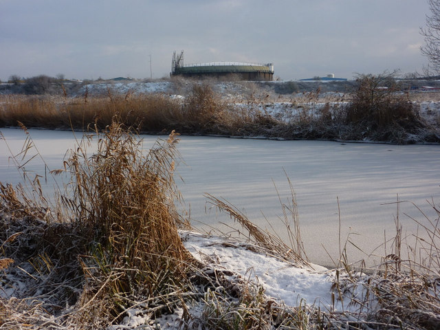 Ice bound River Gipping
