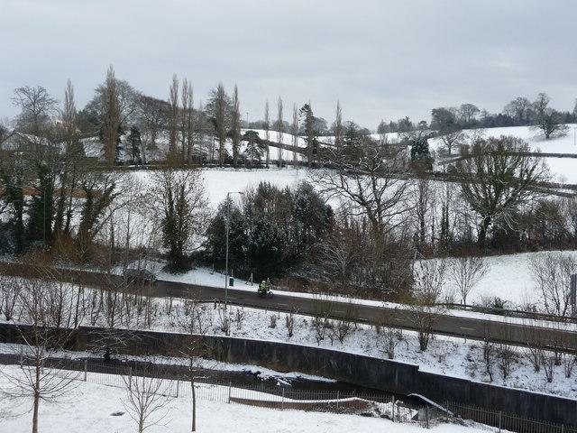 Tiverton : River Lowman, Great Western Way & Hillside