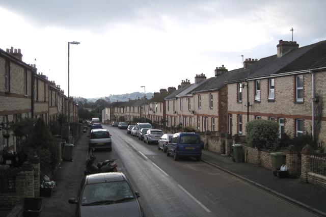 Houses of local brick, Gestridge Road, Kingsteignton