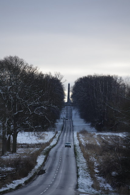 Approach Road to the Castle Howard Obelisk