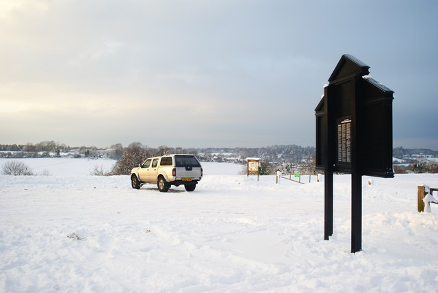 Car Park on Farthing Downs, Surrey