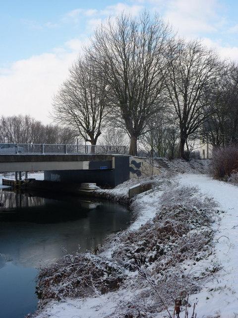 Riverbank towards Yarmouth Road bridge