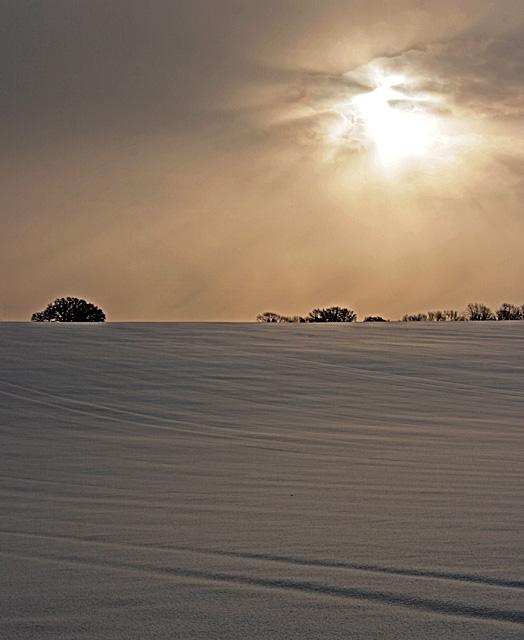 Snowfields near Golden Pot
