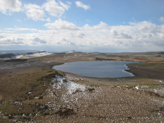 Broomlee Lough from Sewingshields Crags
