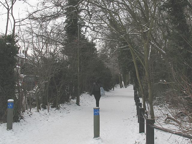 Cycle path alongside Elmstead Lane