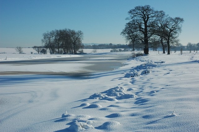 Frozen Croome River
