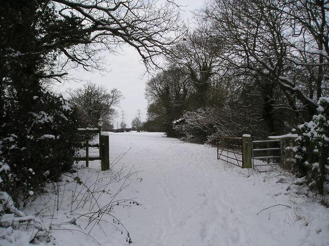 Gate on the footpath between Grundisburgh and Witnesham