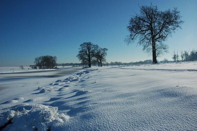 Winter wonderland in Croome Park