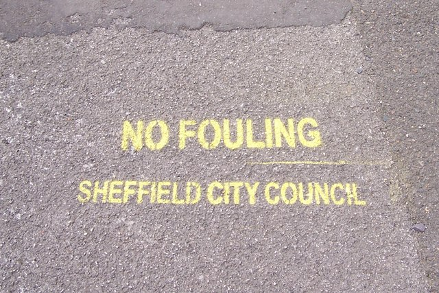 No Fouling on Haden Street, Hillsborough, Sheffield