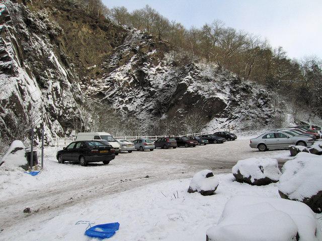 Snow at the Wrekin car park