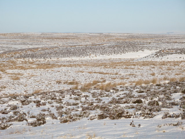 Snowy moorland below Crawberry Hill (3)