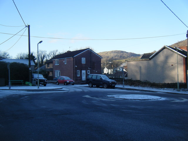 Barry Road mini-roundabout.
