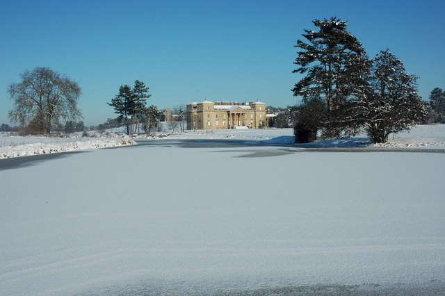 Croome Court and Croome River
