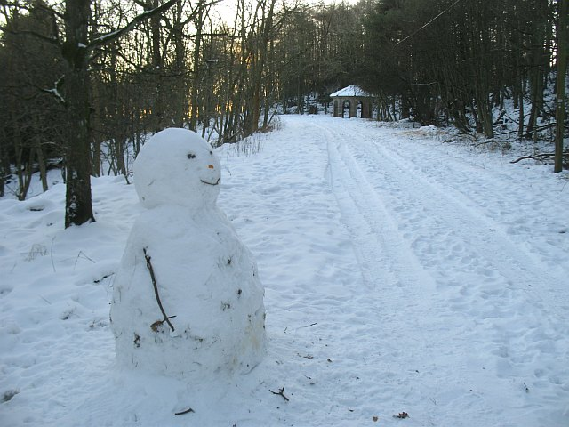 Snowman and folly, Cullaloe Hills