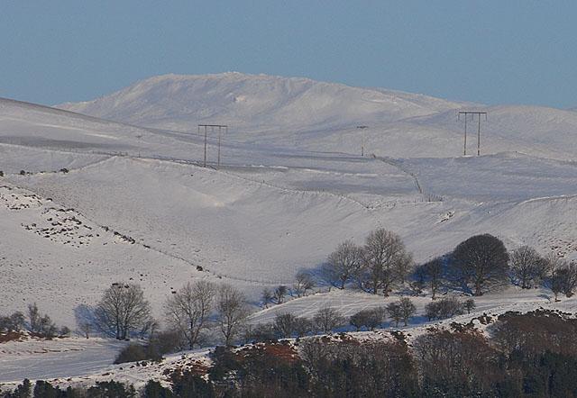 Plynlimon under snow