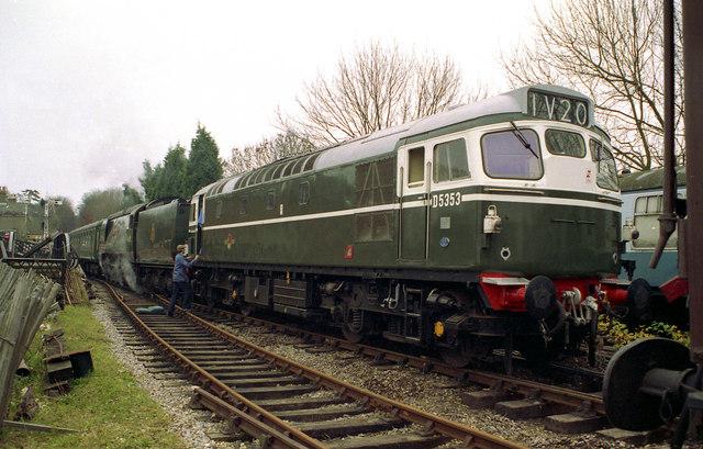 Diesel locomotive at New Alresford