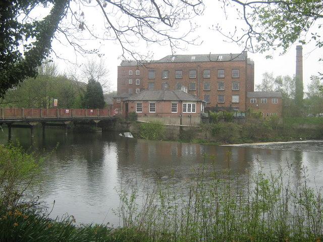 Darley Abbey Mills and Weir, Derby