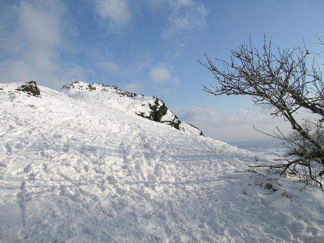Fresh snow on the Needle's Eye