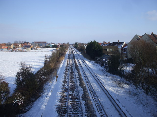 Railway line at St Georges
