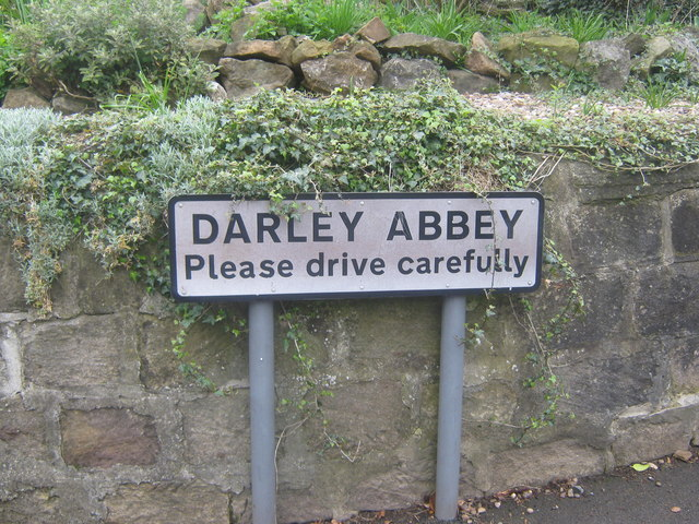 Signpost for Darley Abbey in Derby