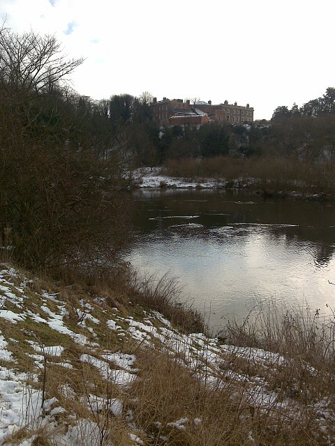 Clifton Hall from across the Trent