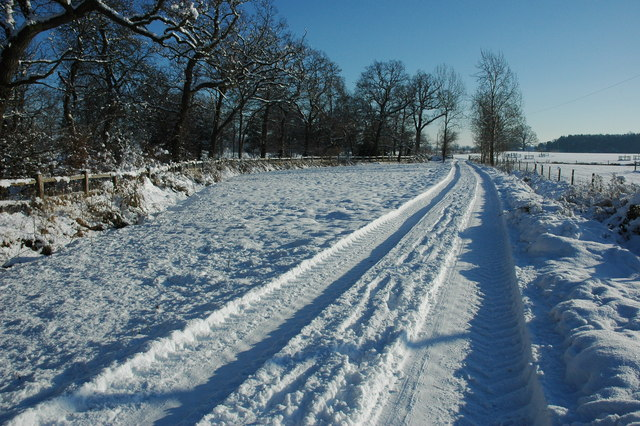 Track to Westfield Farm, Croome