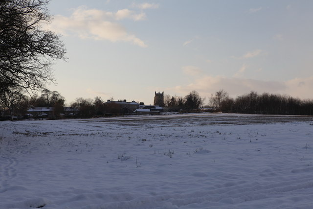 View over the fields to Terrington
