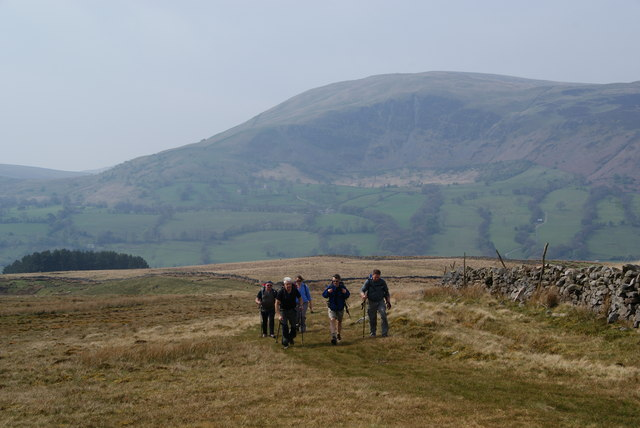 Climbing to the top of the ridge on Long Moor