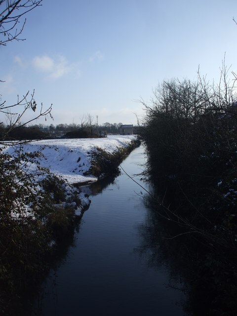 The River Banwell, from Bourton Lane, St Georges