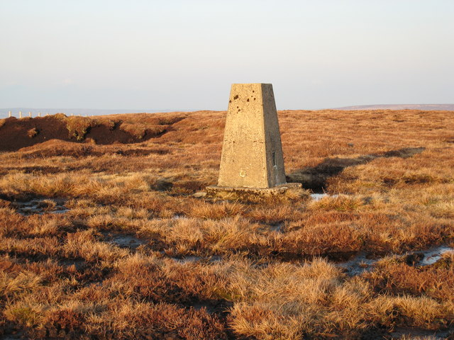 Trig point on Fendrith Hill