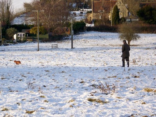 Walking the dog, Bishopstone