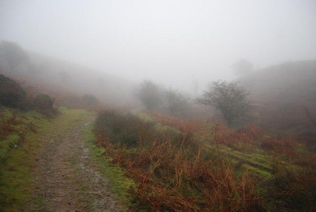 Mists swirling around the Macmillan Way West