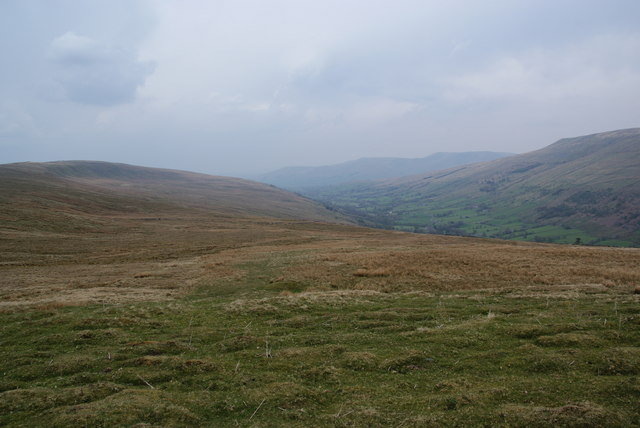 Looking west from Little Snaizwold Fell