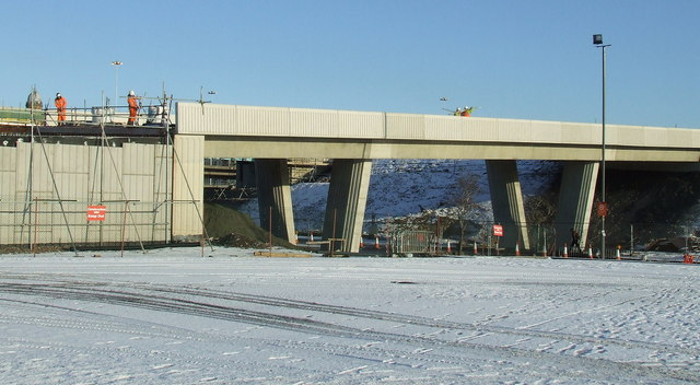 M74 Northern Extension construction