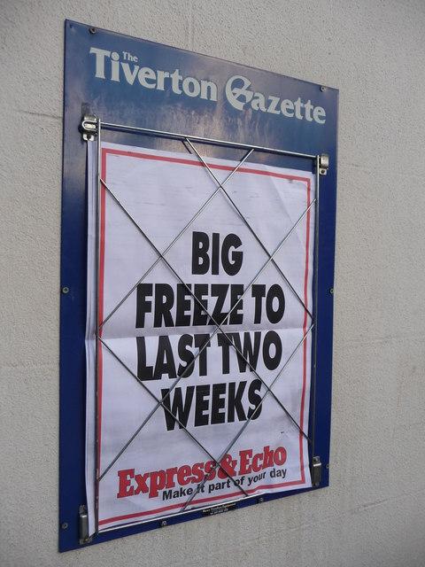 Tiverton : Newspaper Headline