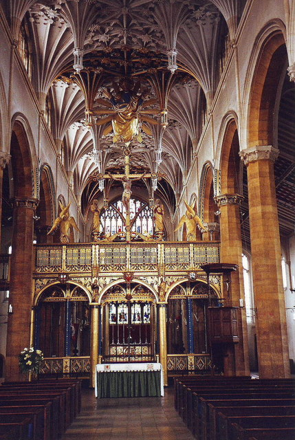The spectacular interior of St. Mary's, Wellingborough