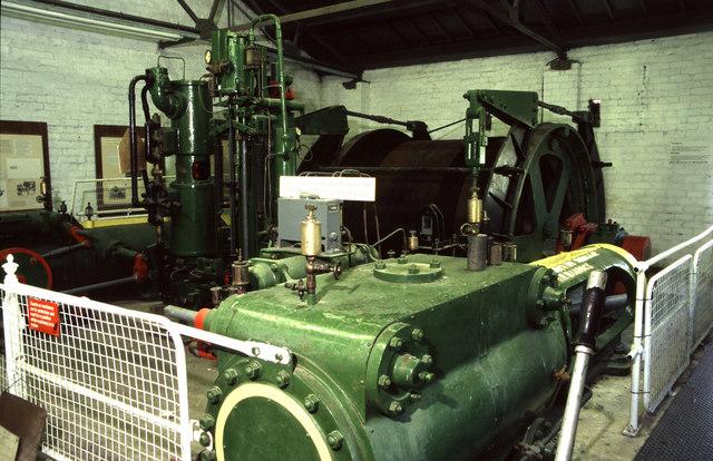 Steam winding engine Cydweli Industrial Museum