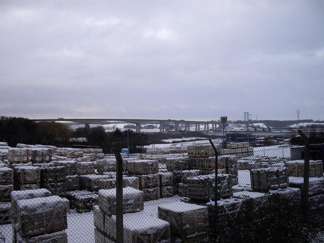 Storage Yard near Orwell Bridge