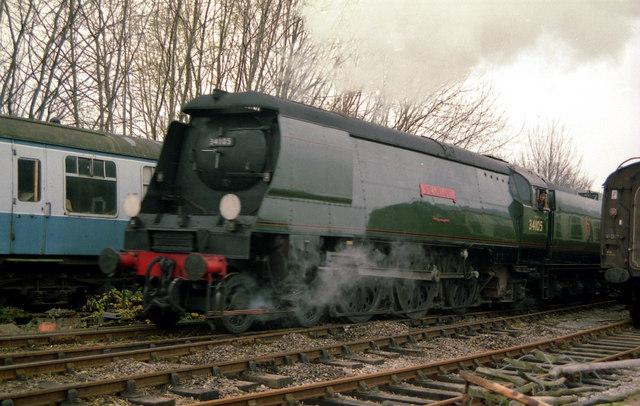 Steam locomotive at New Alresford