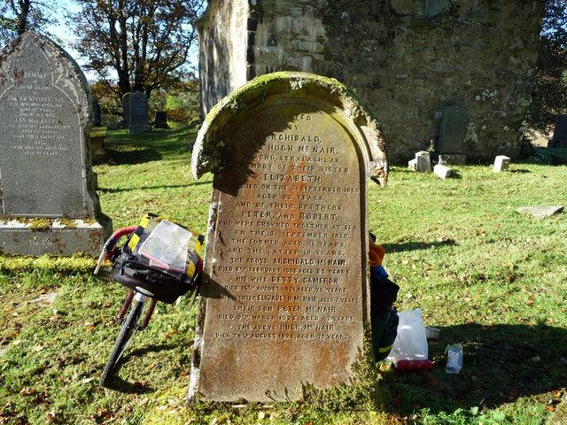 Gravestone at Kilmorie Chapel