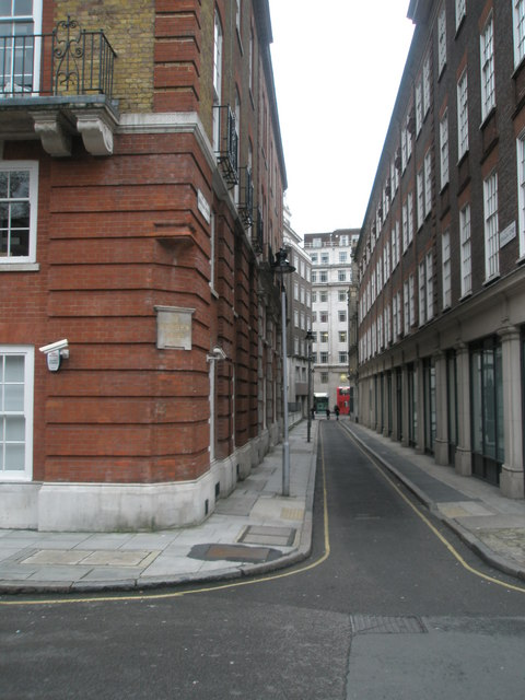 Looking from Bedford Row into Brownlow Street