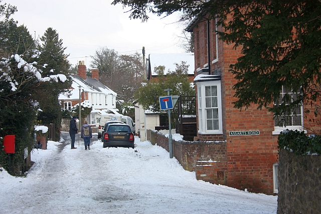 Snow covered Kings Road