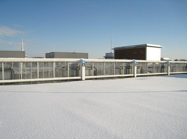 Pristine urban snow