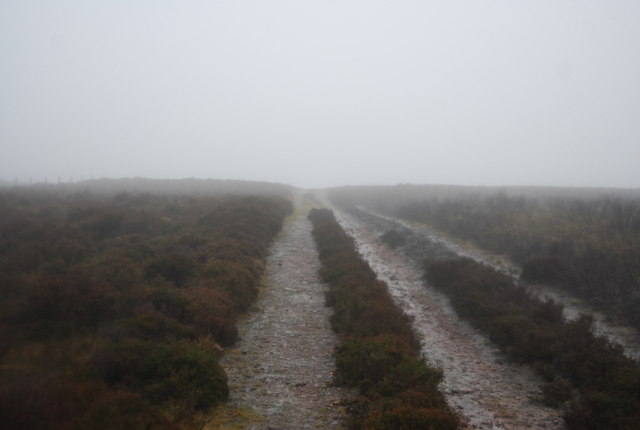 Macmillan Way West near Hurley Beacon, in the mist