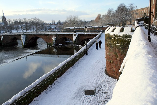 City Walls and Old Dee Bridge, Chester